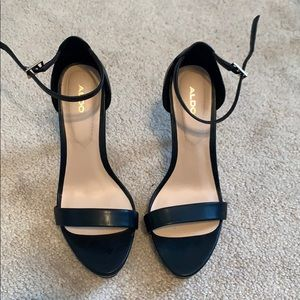 Aldo Stiletto Black Strappy Heels